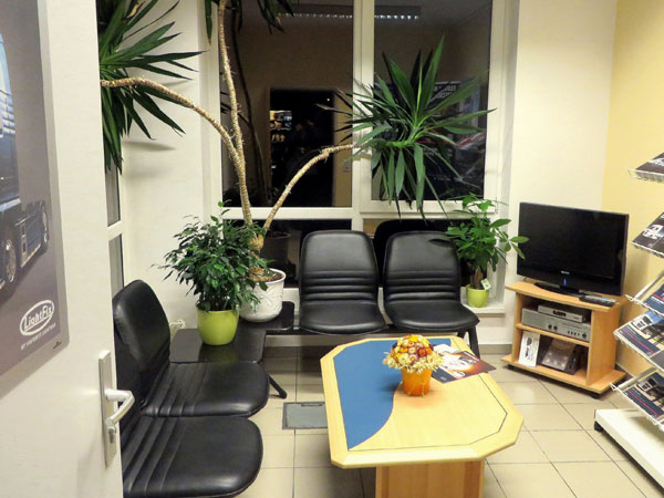 Kundenwarteraum der Wieser GmbH